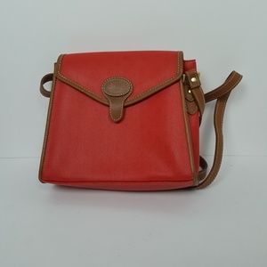 Liz Claiborne Red and Brown Cross Body Purse